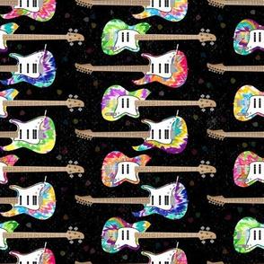 Tie Dye Guitars by ArtfulFreddy