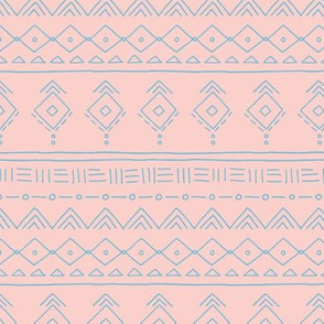 Minimal boho mudcloth bohemian ethnic abstract indian summer aztec design nursery girls pink blue SMALL