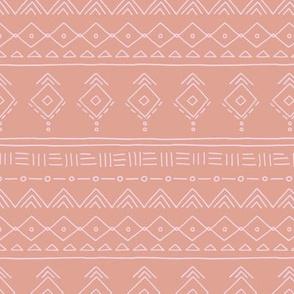 Minimal boho mudcloth bohemian ethnic abstract indian summer aztec design nursery girls caramel brown pink SMALL