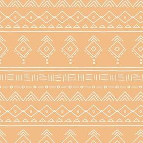 Minimal boho mudcloth bohemian ethnic abstract indian summer aztec design nursery gender neutral soft honey yellow SMALL