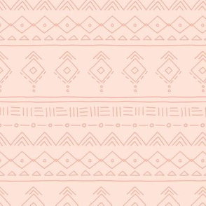 Minimal boho mudcloth bohemian ethnic abstract indian summer aztec design nursery gender neutral soft pale peach pink orange SMALL