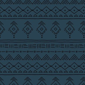 Minimal boho mudcloth bohemian ethnic abstract indian summer aztec design nursery gender neutral midnight navy blue SMALL