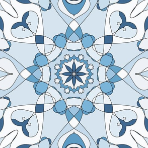 Mandala pattern in blue