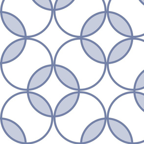 Circles Blue white