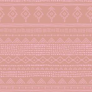 Minimal boho mudcloth bohemian ethnic abstract indian summer aztec design nursery girls latte brown pink SMALL