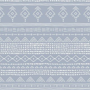 Minimal boho mudcloth bohemian ethnic abstract indian summer aztec design nursery moody blue gender neutral SMALL