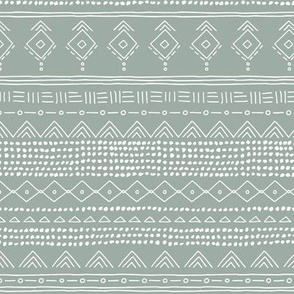 Minimal boho mudcloth bohemian ethnic abstract indian summer aztec design nursery winter soft sage green gray gender neutral SMALL