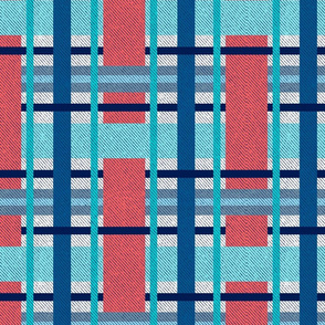 Big plaid - orange and teal