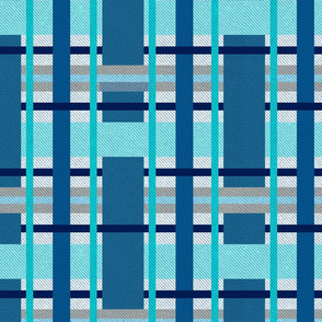 Big plaid - blue and aqua