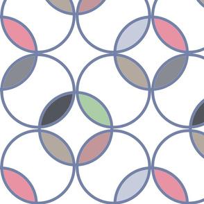 Circles warm colors