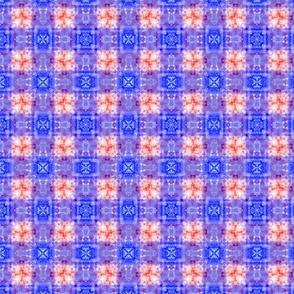 Blue Tie-Dye Plaid