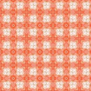 Orange Plaid Tie-Dye