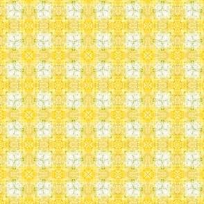 Yellow Tie-Dye Plaid