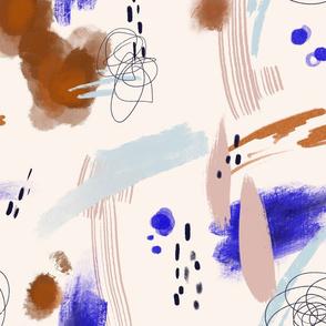 Rust + Cobalt Canvas