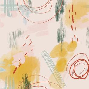 Mint + Mustard Canvas
