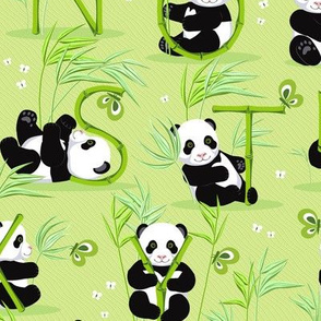 Panda and letters 4