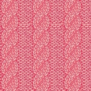 cable knit - salmon