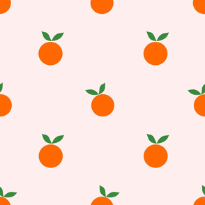 (L) Oh My Clementine - Large on Light Baby Pink