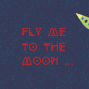Fly me to the moon (pillow sham)