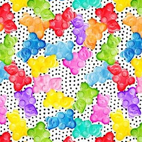 (small scale) Gummy bears - tossed candy - polka dots - C20BS