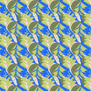 Tiny Green Fern Abstract Seamless Repeat Pattern