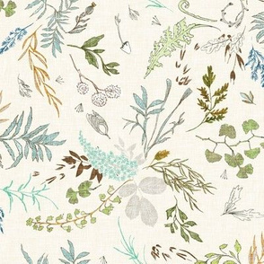 Foliage (cream blue) MED