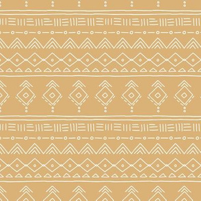 Minimal boho mudcloth bohemian ethnic abstract indian summer aztec design nursery mustard yellow gender neutral SMALL