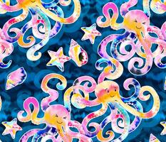 Tie-Dye Octopi - large print