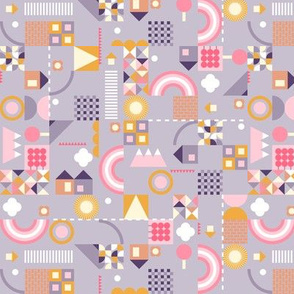kids geometric - purple and small