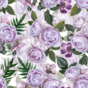 """18"""" Aromatherapy - Smelling Purple Roses"""