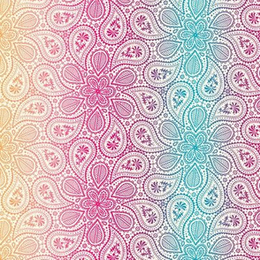 Born in a Candy Wrapper - Paisley - Rainbow