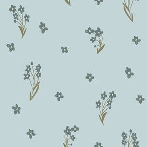 Forget me not on light blue