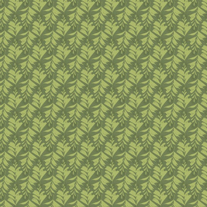 Tiny Green Leaves Abstract Seamless Repeat Pattern