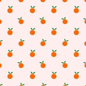 (XS) Oh My Clementine - XS on Light Baby Pink