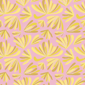 Large Pink Flowers Abstract Seamless Repeat Pattern