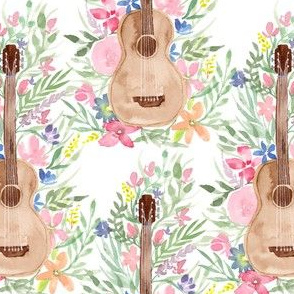 Acoustic Guitar floral