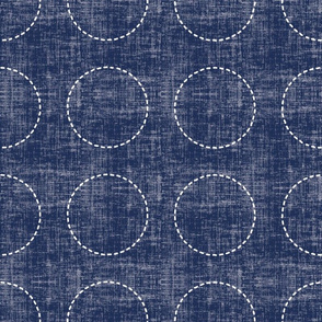 Stitches on Navy-Small Circles