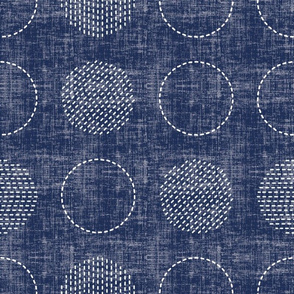 Stitches on Navy-Circles_Lines