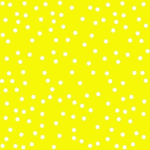 yellow  white dots