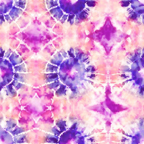 Peachy Purple Tie Dye