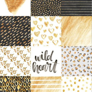 shimmer gold wild heart cheater quilt