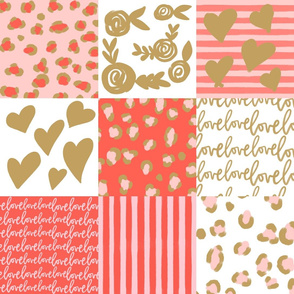 hip hooray valentines day cheater quilt