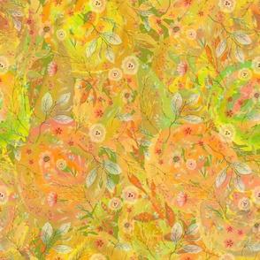 medium watercolor flowers meadow field YELLOW FLWRHT
