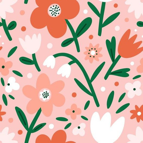 Pale pink floral pattern