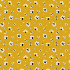 Wild-Dog-Rose-Scandinavian-Seamless-Surface-Pattern-With-Mustard-Background-_Converted_