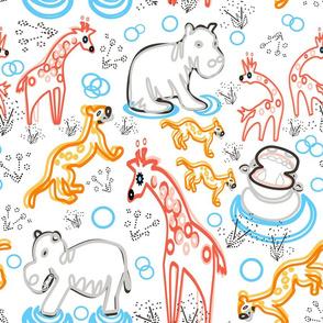 Lines of Safari on white copy