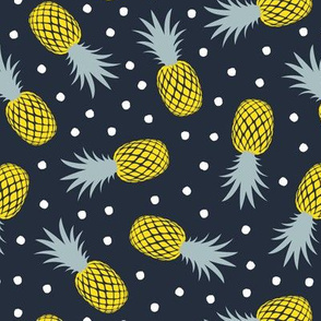 pineapples - summer - blue  - LAD20