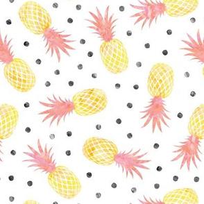 pineapples - summer - pink w/ polka - LAD20