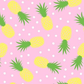 pineapples - summer -  pink  - LAD20