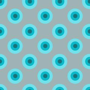 blue bullseye